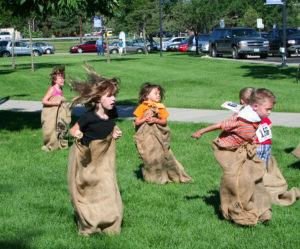 Kids Games of Old gunnysack