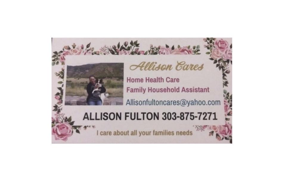 Allison Cares Business Card