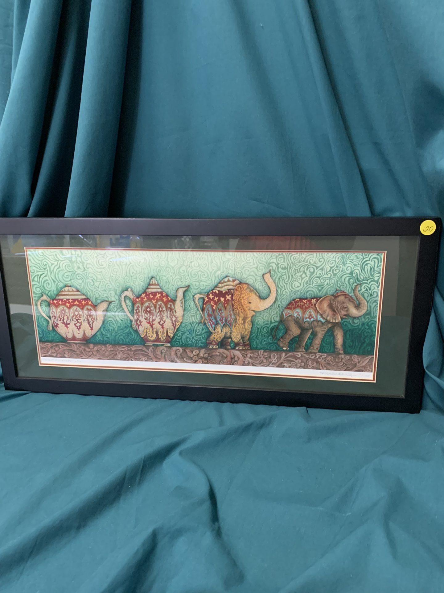 220 Teapot Elephant print