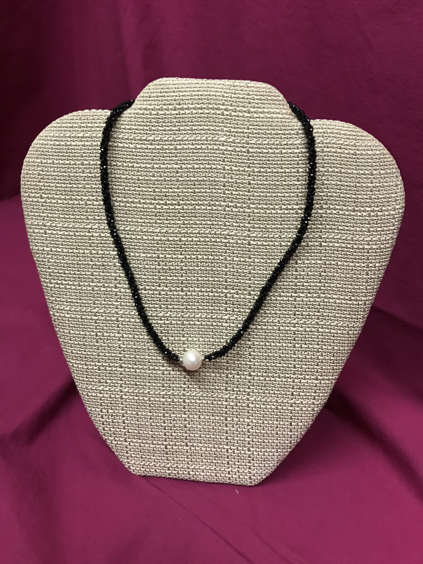339 Black Spinel Pearl Necklace