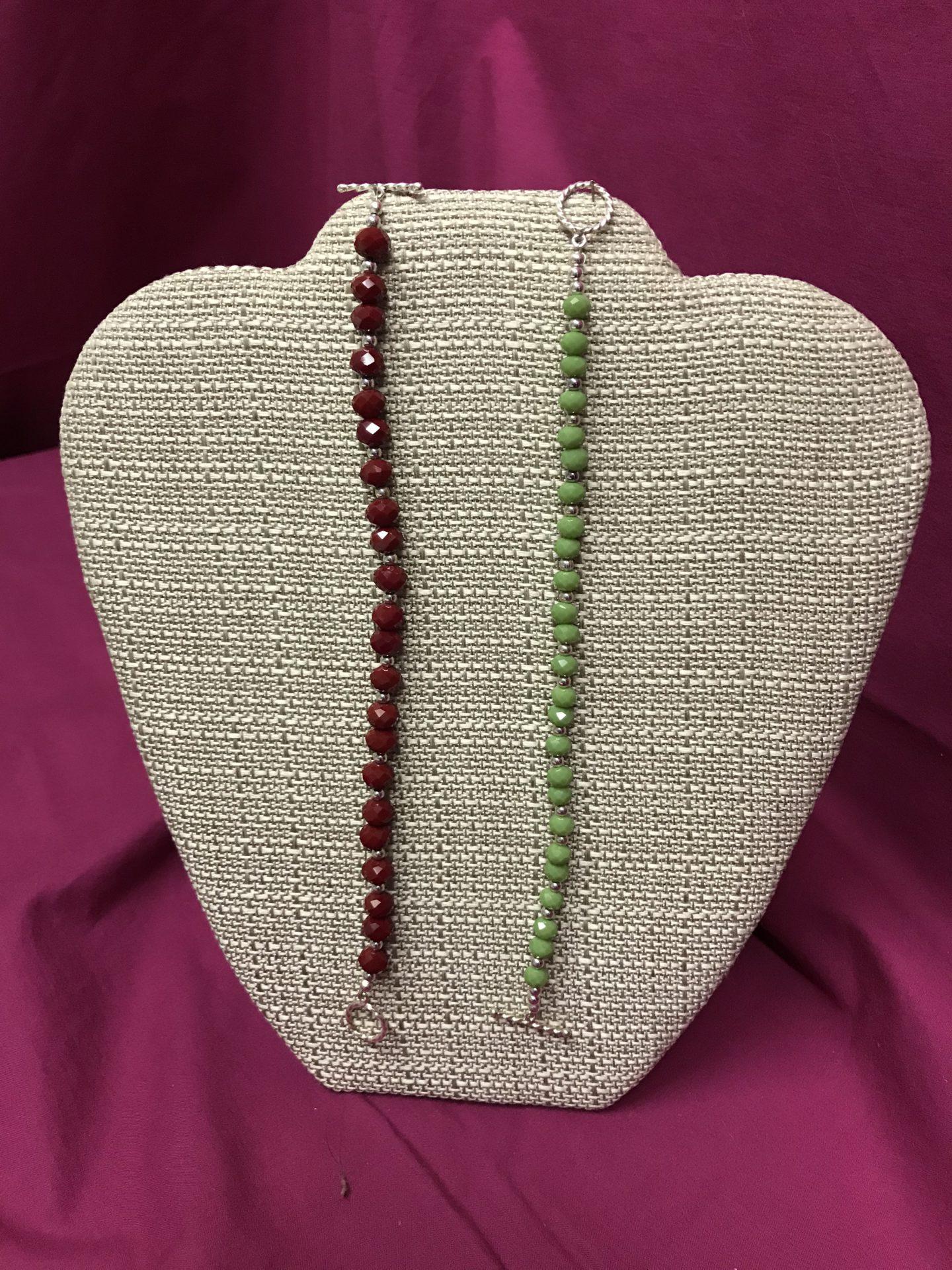 340 2 Beaded Bracelets